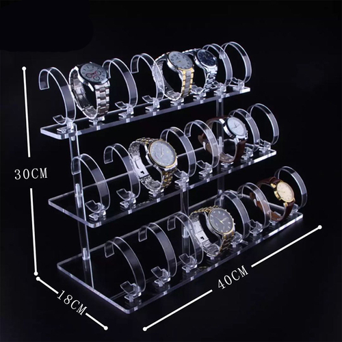 Acrylic 3 tiers watch display stand,Acrylic 2 tiers watch display stand, 5 clear watch display stand