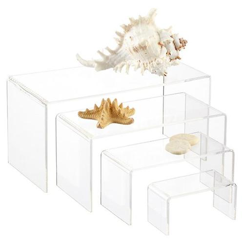"Acrylic riser stand ,Display 4"" , 6"", 8"", 10"" Wide - Set of 4"